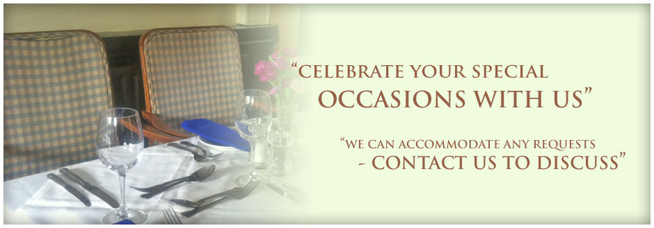 Celebrate your special occasions with us