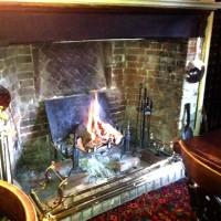 Wood fire in the Wheafsheaf