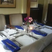 Dinner table at The Wheatsheaf