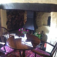 One of the fireplaces at The Wheatsheaf