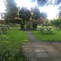 The Wheatsheaf beer garden
